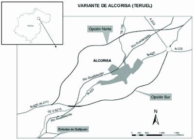 EL PROYECTO DE CONSTRUCCIÓN DE LA VARIANTE DE ALCORISA SALE A LICITACIÓN